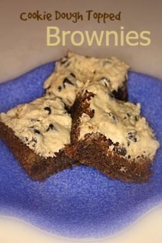 Scrumptilicious 4 You: Cookie Dough Frosted Brownies