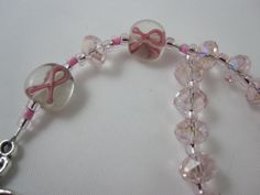 Breast Cancer Awareness Prayer Bead Chaplet by PrayerworksStudio, $15.00