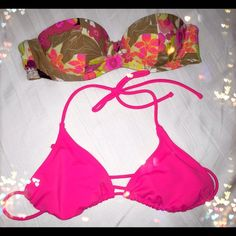 H&M & OP bikini tops Perfect condition.  H&M is 34A & OP is 7-9 but it's fairly small and adjustable. Take both for $7. Can sell separately for $6 each ((((selling both in Mercari app for $9 including shipping.))))) H&M Swim Bikinis