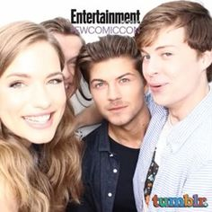Willa Fitzgerald, Connor Weil, Amadeus Serafini, and John Karna