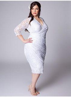 vestido de noiva para gordinhas renda curto