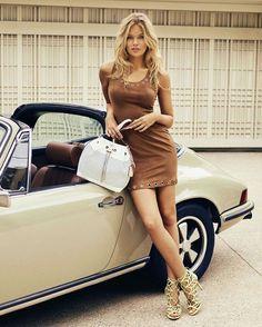 Russian model Lada Kravchenko and Porsche 911 Targa Porsche 911 Targa, Porche 911, Porsche Autos, Porsche Cars, Porsche Classic, Classic Cars, Volkswagen, Sexy Cars, Hot Cars
