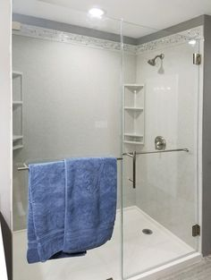 Shower Gallery Onyx Shower, Bathroom Shower Panels, Frameless Shower Doors, Towel Rod, Towel Rack Bathroom, Interior Paint Colors, Amazing Bathrooms, Glass Door, Master Bathroom