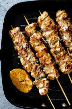 Easy herby lemon chicken skewers - Simply Delicious