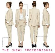 This is a great outfit for a job interview because its a modern style of the professional look. There are closed toes shoes, a blazer, and slacks that will make any big corporation want to higher you.