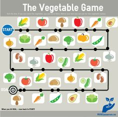 The Vegetable Game. Trykk på bildet for full versjon klar for utskrift.