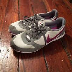 Nike sneakers Preloaded Nike sneakers worn less than 25 times. Dirt spots shown. They still have s lot of life left. Good to wear outdoors so as not to ruin good shoes as a camp counselor or doing yard work. Smoke free home. Bundling available. Nike Shoes Sneakers