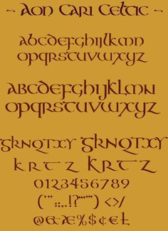 The Aon Celtic Art website features the artistic works of international artist Cari Buziak, including a gallery of works, free tutorials and clipart. Hand Lettering Fonts, Cool Lettering, Lettering Styles, Handwriting Fonts, Penmanship, Typography Fonts, Lettering Design, Celtic Fonts, Celtic Art