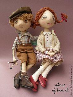 Коллекционные куклы ручной работы. Ярмарка Мастеров - ручная работа на скамейке или когда моё сердце бьётся часто-часто.... Handmade.