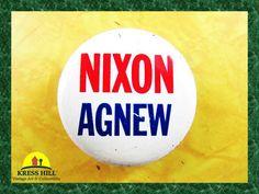 Retro Nixon Agnew Presidential Campaign by KressHillVintage