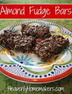 Honey Sweetened Almond Fudge Bars
