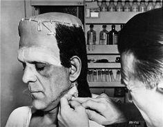 boris karloff frankenstein makeup - Google Search