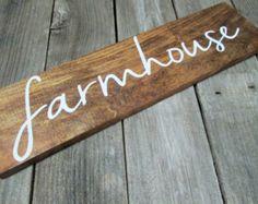 Farmhouse sign rustic farmhouse sign farmhouse by PerryhillRustics