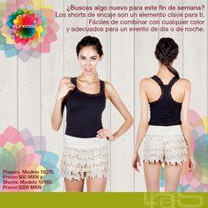¿Buscas algo nuevo para este fin de semana? #Lineas #outfit #moda #tendencias #2014 #ropa #prendas #estilo #moda #primavera #outfit #shorts