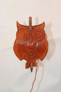 Carved Leather Owl Hair Barrette by thebrasswardrobe on Etsy, $20.00