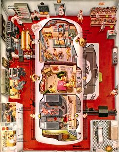 Space life, as simulated in 1953 / Maddd Science