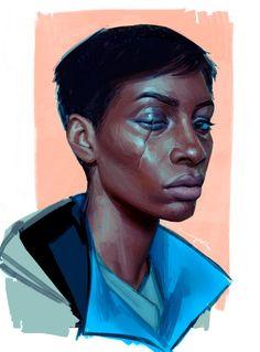 "friedpotat: ""i love meagan "" Skins Characters, Dnd Characters, Character Concept, Concept Art, Character Design, World Of Darkness, Painting People, Cyberpunk Art, Digital Portrait"