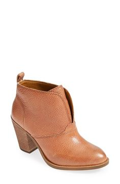 Lucky Brand 'Ehllen' Textured Leather Bootie (Women) | Nordstrom
