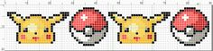 Pikachu And Pokeballs banner pattern by starrley.deviantart.com on @deviantART