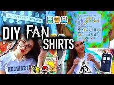 DIY Fandom Graphic Tees Lookbook With JessiePaege! - YouTube
