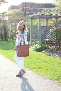 Lilly Style: white denim + tassels