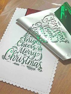 DIY foiled Christmas cards