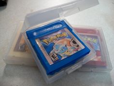 The Gameboy cartridge cases.