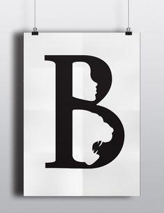 """Esta colección alfabética de carteles, diseñada por la estudiante indú Anwesha Daolagupu, cuenta con la primera letra del título de famosos cuentos de hadas y coincide con elementos de la historia incorporados a ella. Por ejemplo, el cartel de Caperucita Rojautiliza el espacio negativo de laletra """"R"""" para formar la famosa capa con capucha roja …"""
