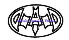 Bat Dad Machine Embroidery Design INSTANT DOWNLOAD