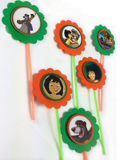 Disney's Jungle Book cupcake toppers Set of 12 by GioviPartyDecor 4th Birthday Cakes, 4th Birthday Parties, Jungle Book Party, Book Cupcakes, Christmas Table Decorations, Wedding Book, Party Themes, Party Ideas, Cupcake Toppers