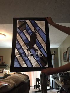 Harry Potter stained glass craft. Used stencils I found online and my cricut!