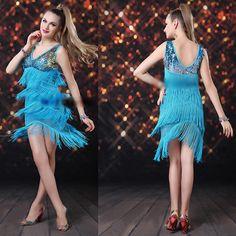 Blue Flapper Sleeveless Short Cocktail Evening Ballroom Dancing Dress SKU-401196