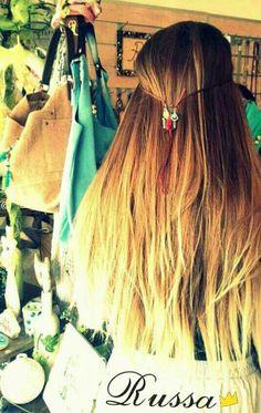 Hand made hair jewelry <3 #russa #bijoux #hair # jewelry #boho # blonde