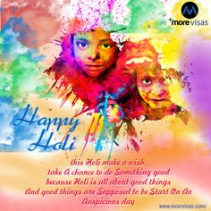 #‎MoreVisas‬ wishes you and your family a very bright, colourful an joyful Holi...