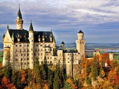King Ludwig II of Bavaria had the awe-inspiring castle of Neuschwanstein built in the 19th century, nestled among the trees of Germany's scenic Black Forest. I don't care how old you are, a visit here will make you feel like you've left real life and entered a fairy tale.