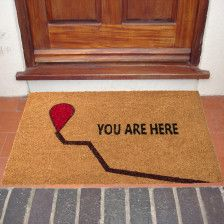 "18""x30"" Thick Natural Coir ""You Are Here"" Doormat - Non-Slip"