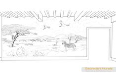 Safari Mural Sketch