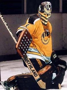 Mike Liut as a Cincinnati Stinger Flyers Hockey, Women's Hockey, Hockey Girls, Hockey Rules, Hockey Stuff, American Football Rules, American Football League, Goalie Mask, Best Masks