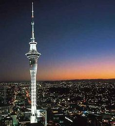 The Sky Tower is an observation and telecommunications tower located on the corner of Victoria and Federal Streets in the Auckland CBD, Auckland City, New Zealand. Places To See, Places Ive Been, Auckland New Zealand, Air Tickets, The Beautiful Country, Architecture Old, Famous Places, Top Destinations, Urban