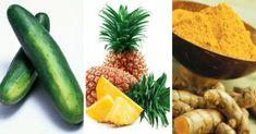 Poderoso jugo anti-inflamatorio que cura dolores en las articulaciones - e-Consejos Jugo Natural, Pickles, Cucumber, Zucchini, Smoothies, Beverages, Drinks, Pineapple, Health Fitness