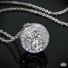 'Halo Prong' Diamond Pendant #Whiteflash #Verragio