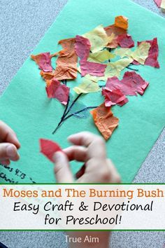 Moses and the burning bush - Easy craft & devotional for preschoolers