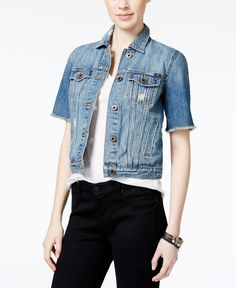 Buffalo Exchange Dark Denim Short Sleeve jacket | Street Style ...
