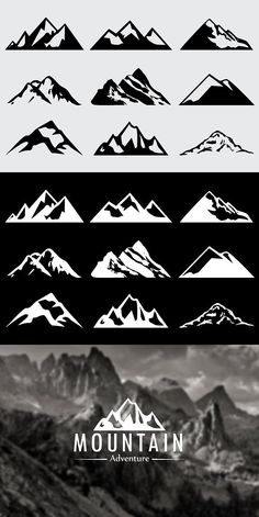 Mountain Shapes For Logos Vol 5. Shapes