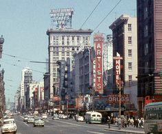 1957 shot of downtown San Francisco .