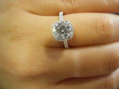 YES PLEASE!!! round diamond with cushion halo