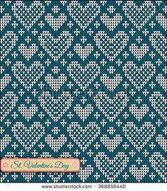 Find Classic Knitted Pattern Hearts Valentines Day stock images in HD and millions of other royalty-free stock photos, illustrations and vectors in the Shutterstock collection. Tapestry Crochet Patterns, Fair Isle Knitting Patterns, Knitting Charts, Knitting Stitches, Motif Fair Isle, Fair Isle Chart, Fair Isle Pattern, Cross Stitch Borders, Cross Stitch Patterns