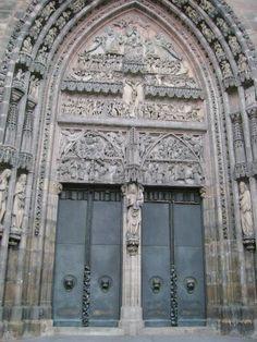 Nuremberg, Germany St. Lorenz Nuremberg Germany, Happy Year, Old Doors, Windows, City, Places, Antique Doors, Happy New Year, Cities