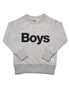 Boys & Girls Grey Boys Slogan Jumper: This summer's must-have slogan top for boys (in case you hadn't noticed). A lovely grey neutral crew in soft loop back sweat fabric. Made from 100% GOTS certified organic cotton for extra feel-good factor. About Boys&Girls Boys&Girls create vibrant clothes for lively babies, toddlers & kids. Based around a core range of simple sweat shapes, their clothes are colourful, comfortable, modern & fun with an emphasis on great unisex pieces that are perfect for…