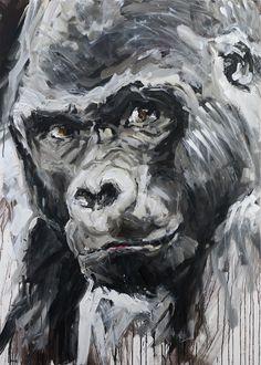 """""""gorilla"""" 2015, 140 x 100 cm, acryl auf leinen"""